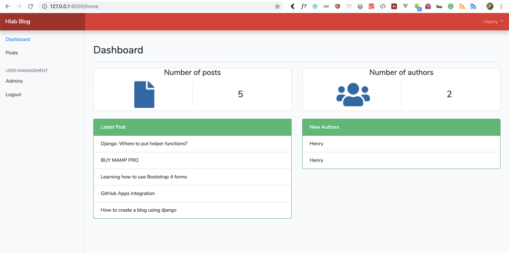 Part IX: How to Delete a Post and Final Admin Dashboard Touch in