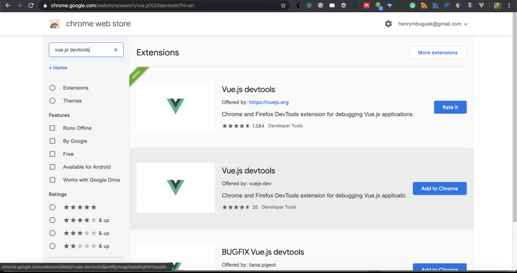 Successfully added Vue.js dev tools