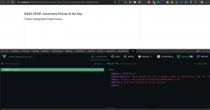 Lesson 2: A Step by Step Tutorial on How to Refactor Our Vue.js Code and usage of Vue.js dev tools extension in Consuming Nasa Open API using Vue.js Framework 2.6 and Axios.js Promise Based Http Client